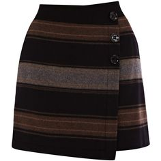 Karen Millen Karen Millen Blanket Stripe Skirt ($110) ❤ liked on Polyvore