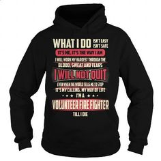 Volunteer Fire Fighter Job Title T-Shirt #tee #clothing. GET YOURS => https://www.sunfrog.com/Jobs/Volunteer-Fire-Fighter-Job-Title-T-Shirt-Black-Hoodie.html?60505