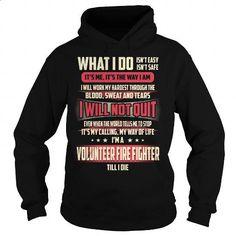 Volunteer Fire Fighter Job Title T-Shirt #tee #clothing. GET YOURS => https://www.sunfrog.com/Jobs/Volunteer-Fire-Fighter-Job-Title-T-Shirt-Black-Hoodie.html?60505