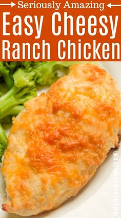 Will be making this again this week. It's amazing. Cheesy Ranch Chicken YES! Will be making this again this week. It's amazing. Cheesy Ranch Chicken – Food I'll never cook. Baked Ranch Chicken, Ranch Chicken Recipes, Quick Chicken Recipes, Parmesan Crusted Chicken, Easy Baked Chicken, Easy Dinner Recipes, Crack Chicken, Ranch Parmesan Chicken, Chicken And Cheese Recipes