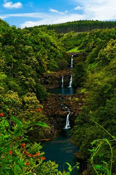 Umauma falls on the Big island of Hawaii