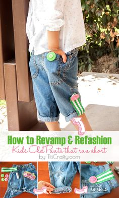 How+to+Revamp+and+Refashion+Kids+Old+Pants+that+Run+Short,+super+easy+step+by+step+tutorial.+So+great+to+keep+your+growing+kids+in+their+clothes+longer!