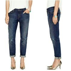 """Fossil Slim Boyfriend Skinny Leg Denim Jeans With a slouchy waist and skinny leg, this slim boyfriend denim is the perfect casual addition to your wardrobe. Condition: Great/ Inseam: 27.5"""" 92% cotton 7% polyester 1% spandex  NO TRADES!! Fossil Jeans Boyfriend"""