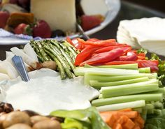 <p>Every party needs a crudite platter for guilt-free snacking. Along with the usual carrots, cucumbers and celery add lightly steamed asparagus and green beans, grape tomatoes and endive leaves for a gourmet feel. </p>