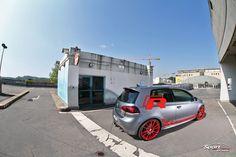 "VW Golf 6 R - Matt Grey & United Red Räder: OZ Ultraleggera Custom Painted - Alufelgen VA 8.5 x 20"" mit 235/25/20 HA 8.5 x 20"" mit 235/25/20 grey red"