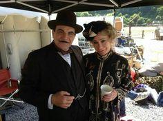 David Suchet as Hercule Poirot and Zoe Wanamaker as Madame Oliver.
