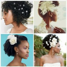 Bridal Accessories make all the difference in natural hair.