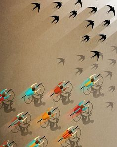 Fall Ride Poster Print by Ajda Fortuna