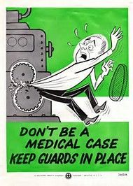 Don't be a medical case...keep guards in place! #TBT #SafetyFirst