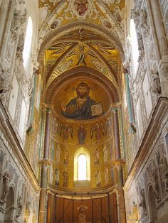 Founded by Roger II in apse completed by Friedrich Ii Staufer, European History, Art History, High Middle Ages, Regions Of Italy, Medieval Life, Cathedral Church, 11th Century, Place Of Worship