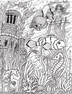 .....Humming Belles.....: New! Undersea Illustrations and Coloring Pages