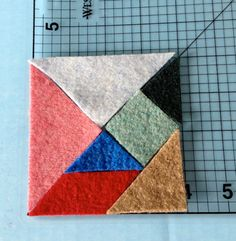 Tangrams Puzzle Game Recycled Wool Felt Educational Toy Party Favor