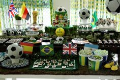 Festa Copa do Mundo/ festa futebol/ Festa menino/ festa infantil/ boy's party inspiration/ soccer party
