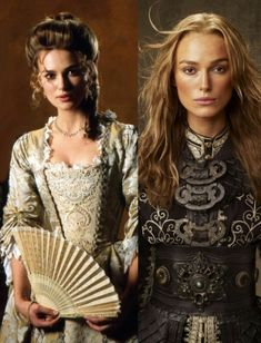 Elizabeth Swann first movie compared to last movie