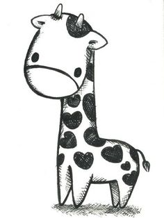 Image de giraffe, drawing, and animal