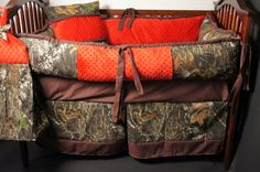 Custom made Baby crib bedding Mossy oak camo  with by Babylooms, $259.99