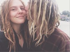Skyline 62 - I have never seen something more beautiful! Wild souls who are in love! So pure eyes, so sweet faces, so adorable dreads... This is real inspiration for love, freedom, art, life... Adorable! And awesome outfits and nose piercing!
