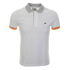 Lacoste > Lacoste Contrast Polo T Shirt White > Lacoste T Shirts Polo Shirts + Lacoste Shirts + Lacoste Designer Clothes @ Mainline Menswear Stockists Of Lacoste T Shirts Lyle And Scott G Star Diesel Original Penguin Fred Perry Armani Hugo Boss Paul Smith Gio Goi Adidas Originals Online UK