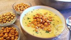 Csicseriborsó krémleves Tahini, Chana Masala, Fitt, Ethnic Recipes, Chickpeas, Bulgur, Chic Peas