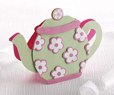 Make a teapot card – free step-by-step and printable template!