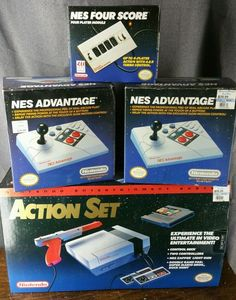 Nintendo Entertainment System Action Set Complete W  2 Advantage CTRLERS +  4-Way   0fb1bcda57272