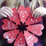 Make Paper Cut Hearts with snowflakes- valentine's day- valentijnsdag Valentines Day Decorations, Valentines For Kids, Valentine Day Love, Valentine Day Crafts, Paper Crafts For Kids, Easy Crafts For Kids, Crafts To Make, Diy Paper, Kid Crafts