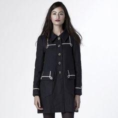 Moby Wool Coat - Navy