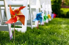 {Wedding Crafting with Cricut} DIY Pinwheels at The Plunge Project