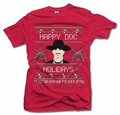 Happy Doc Holidays Two Guns Ugly Christmas Sweater Shirt ... https://www.amazon.com/dp/B018W4D4IK/ref=cm_sw_r_pi_dp_x_rknOyb4B3EVJ2