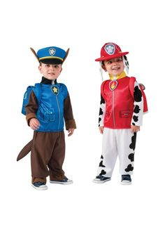 Paw Patrol costumes for the littles - Chase, Marshall, Skye, etc. Pretty highly rated, too! Might consider for Halloween. Toddler Boy Costumes, Halloween Costumes Kids Boys, Baby Costumes, Family Halloween, Halloween Fun, Paw Patrol Halloween Costume, Paw Patrol Costume, Paw Patrol Disfraz, Cumple Paw Patrol