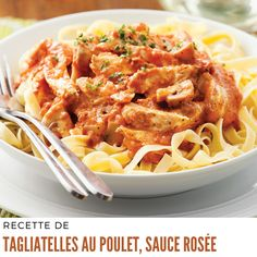 Tagliatelle with chicken. Uce dew - dinners for week - receipts 5 - revenue express - practical. Roast Chicken Recipes, Roasted Chicken, Easy Sesame Chicken, Confort Food, Creamy Chicken, Macaroni And Cheese, Food Porn, Food And Drink, Lunch