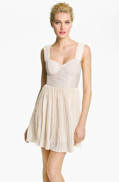 BB Dakota 'Abella' Pleated Bustier Dress $88.00 thestylecure.com
