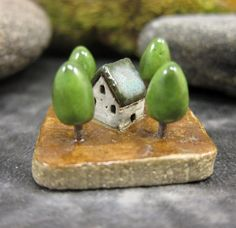 MyLand++In+the+Woods+++Collectible+3x3+cm+or+1.2x1.2+in.+by+elukka