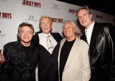 Frankie Valli, Bob Crewe, Tommy DeVito, and Bob Gaudio on JERSEY BOYS opening night festivities in Las Vegas, 2008.