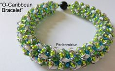 What a wonderful colors! O-Caribbean Bracelet beaded by Silke Kaufmann. Thank you for sharing!