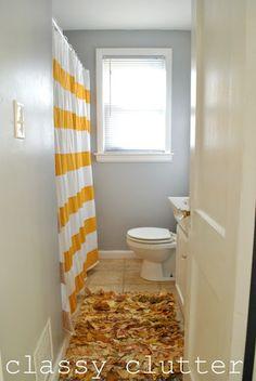 Simple Yellow Bathroom Redo