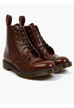 Dr. Martens Men'S Tan Boanil Brush Leather Arthur Boots in Brown for Men