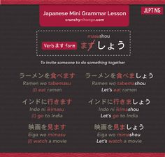 Learn Japanese Grammar JLPT N5 Flashcard