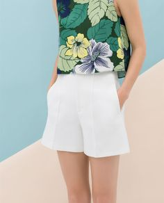 HIGH-WAIST STRUCTURED SHORTS from Zara