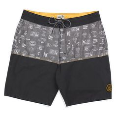 JERECY Mens Swim Trunks Watercolor Penguin Pattern Quick Dry Board Shorts with Drawstring and Pockets
