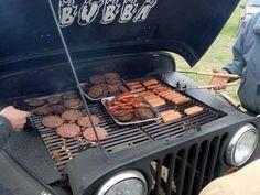 Jeep BBQ grill Jeep Grill, Bbq Grill, Grilling, Jeep Xj, Jeep Truck, Wrangler Jeep, Jeep Wranglers, Car Furniture, Weird Furniture