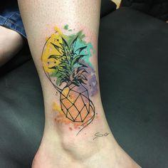 Piercing Tattoo, Piercings, Pineapple Tattoo, Tattoo Motive, Tattoo Inspiration, Random Things, Madness, Watercolor Tattoo, Tatting