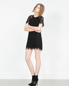 Image 1 of SHORT LACE DRESS from Zara