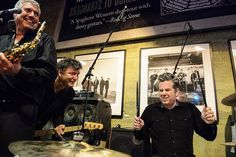 Ben with the Sonics (and Mark Pickerel of Screaming Trees) at Easy Street Records; John Bennett, Beautiful Inside And Out, Big Ben, How To Look Better, Trees, Easy, Tree Structure, Wood