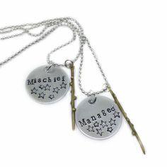 Harry Potter Mischief Managed Best Friend Necklace Set for 2