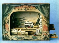 paper theatre, produced by the Milton Bradley Company MA in the 1870s.  I love it! Inspiration for my words project