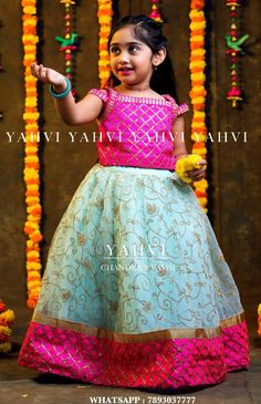 Sewing Baby Girl Clothes Mom Ideas For 2019 Kids Party Wear Dresses, Kids Dress Wear, Kids Gown, Dresses Kids Girl, Girl Outfits, Children Dress, Baby Girl Lehenga, Kids Lehenga, Kids Dress Patterns