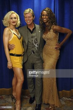 News Photo : Gwen Stefani, David Bowie and Iman during 2005...