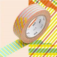 MT Masking Tape // 1P Deco // Stripes-Checked Red-20