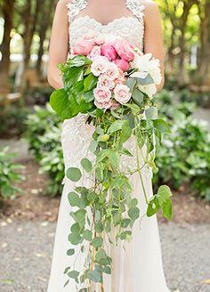 cascading wedding bouquet | blog.theknot.com